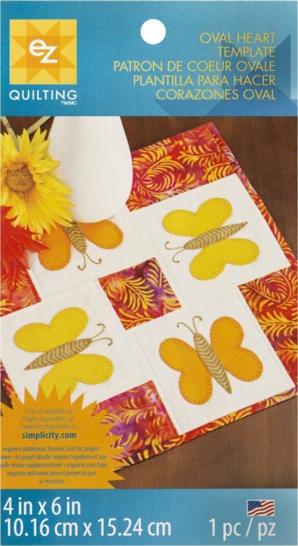 Curved Hearts template quilting craft - EZ simplicity