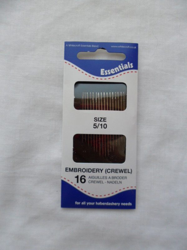 Hand sewing needles - Embroidery 5/10  - 16 needles